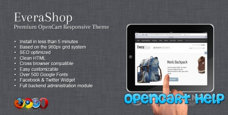 Шаблон EveraShop Opencart 1.5.5.1